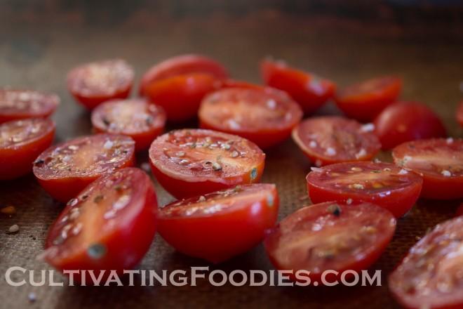 Ripe juicy tomatoes.
