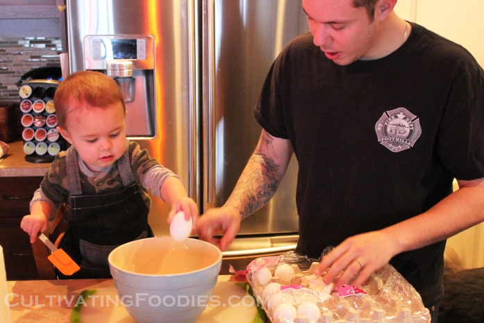 Litle chef and Jamie eggs wm.jpg