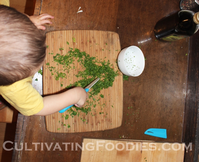 Little Chef chopping with knew knife.jpg